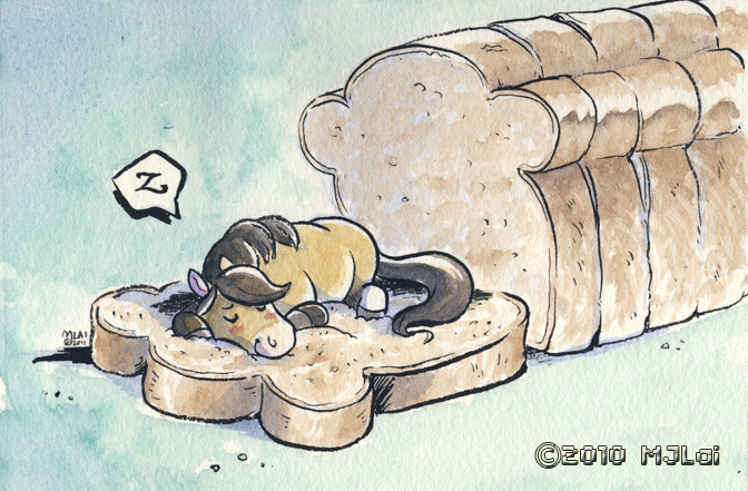 An example of what you can get for the watercolor original art tier. Wheat bread pony dreams of sweet kickstarter success.