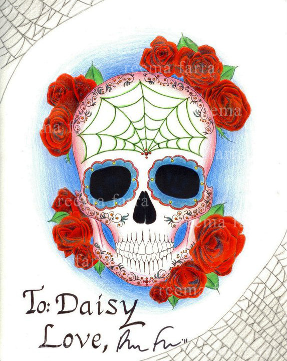 Día de los Muertos. Colored pencil on paper
