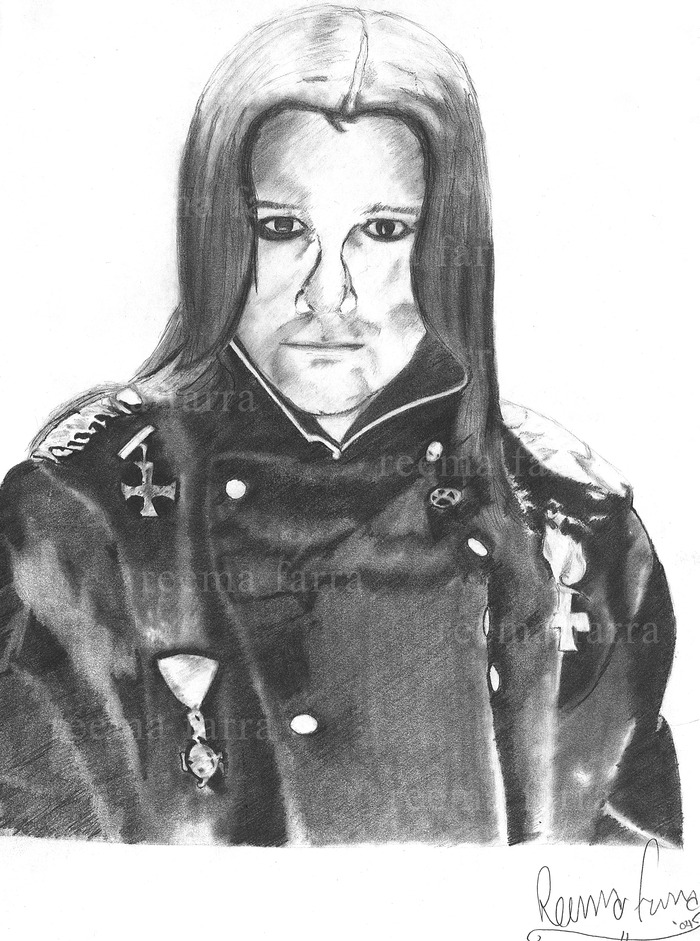 Young Ozzy Osborurne. Graphite pencil on paper