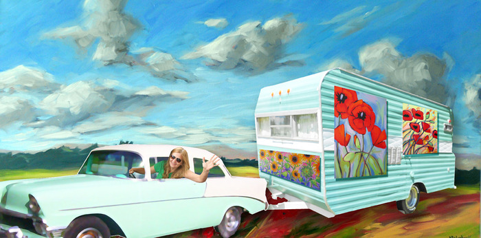 me & the happy camper: a mobile art gallery