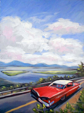 going back to camp, oil on canvas. ©2011 Kristina Wentzell