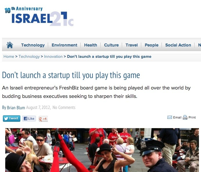 FreshBiz - Entrepreneurial game on Israel21c