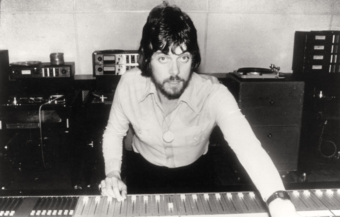 Alan Parsons in the studio in the early 70's