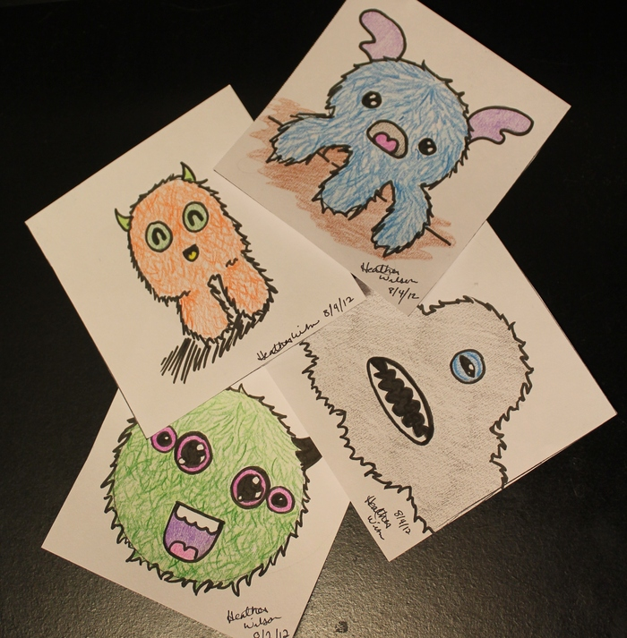 $10 reward - 4x4 inch monster art!