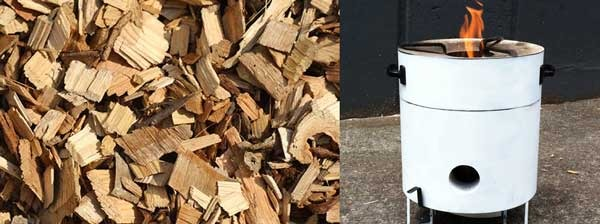 Clean Wood Chips & Kenya Stove