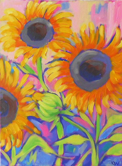 follow the sun, oil on canvas.  ©2012 Kristina Wentzell
