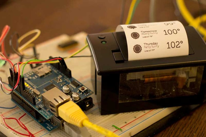 One of the mPrinter prototypes