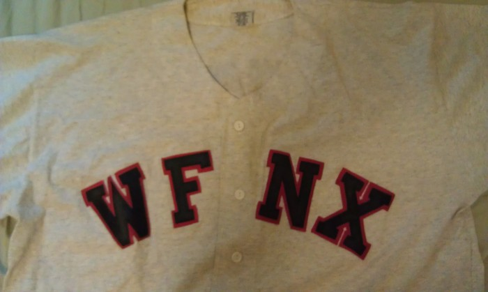 WFNX Baseball T donated by Kat Corbett