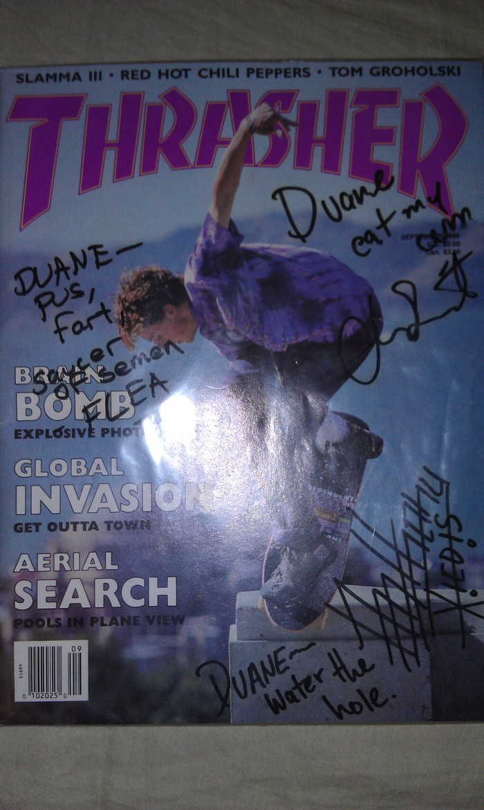 Red Hot Chili Peppers Thrasher Magazine donated by Duane Bruce