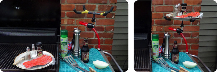 When grilling, work areas can get tight. Need a hand?