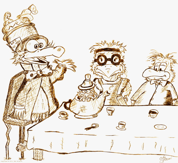 The Mad-Mad Tea Party by Calvin Lester