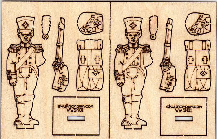 Napoleonic foot soldier sprue.