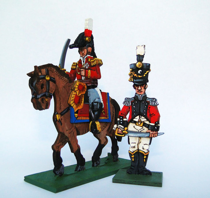 Hand painted foot and mounted officers.