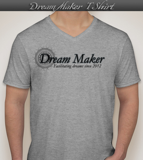 Backers of $100 or greater will receive this soft style Jersey cotton V-Neck T-shirt.