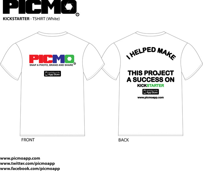 PICMO - T-shirt for pledging to support on Kickstarter