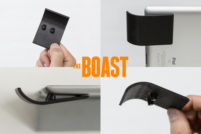 The Boast prototype from different angles.