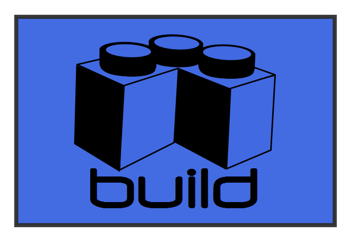 "Blue ""Build"" Patch Design"