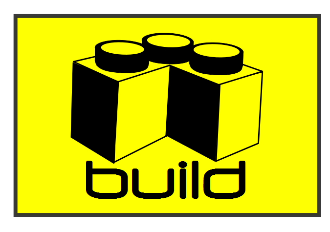 "Yellow ""Build"" Patch Design"