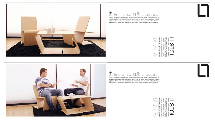 $15 - postcards - front page with different motives of chair in use and back page with a brief description of chair for