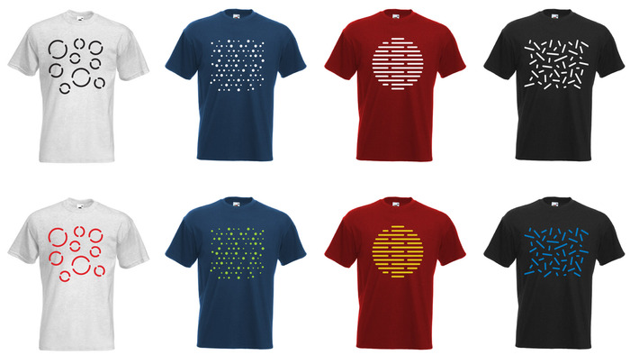 $35 - T-shirts designed with unique motives of perforations for LLSTOL