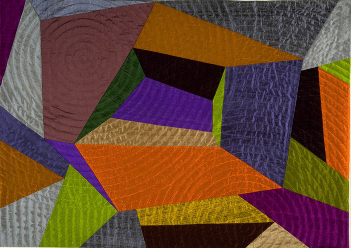 "Voices Beneath    25""x35""     pieced silks, hand quilted....$1,800 pledge"