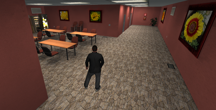 Screen shot of the initial office 'tutorial' area. Realtime shadows are off and we did not fully lightbake yet.