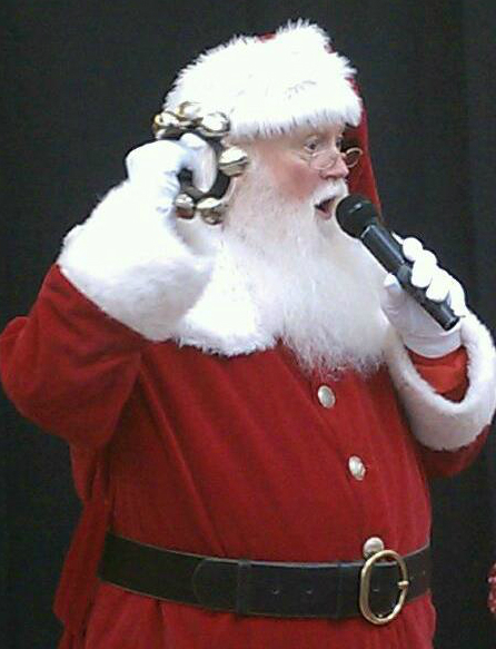 "Singing Jingle Bells at my ""grand arrival"" at Willowbrook Mall in Houston, TX. 2011"