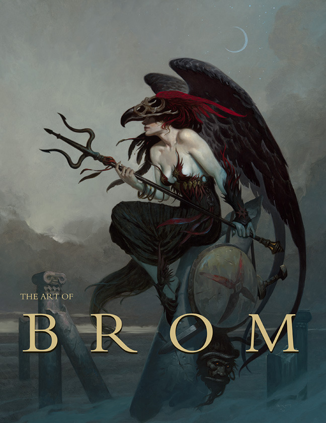 "The Art of Brom ""Publisher Edition"" Fantasy Cover and ""Deluxe Edition"" Cover"