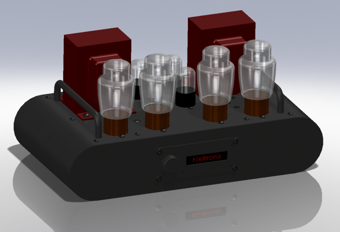 First cut at custom metal amp chassis rendering