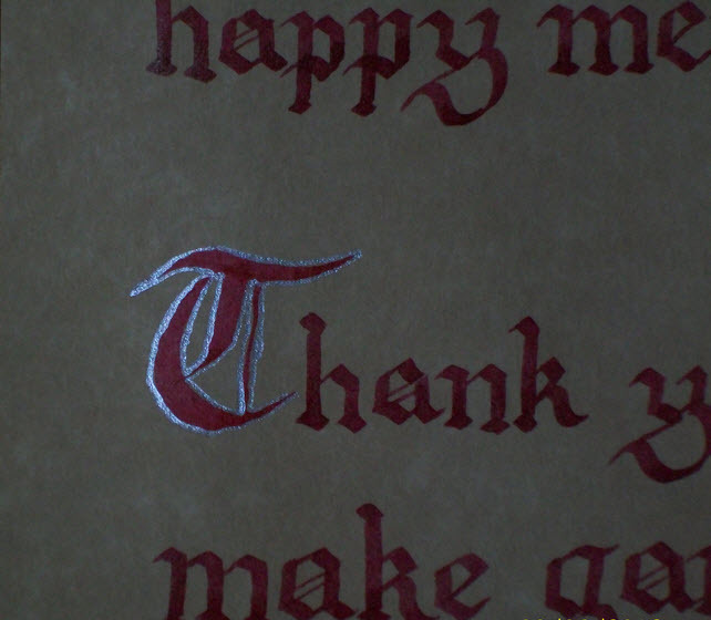 Do you know how hard it is to find a calligrapher that is familiar with the style of Eiridia?