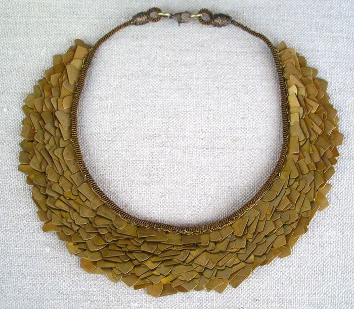 150+ donation: hand-woven rustic gold collar necklace courtesy of Kokommo designs