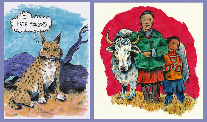 L is for Lynx; Y is for Yak