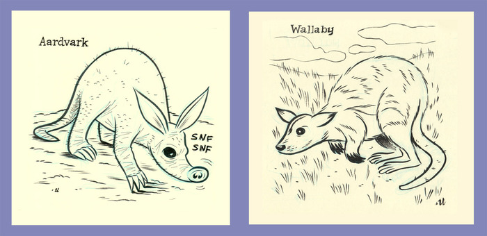 A is for Aardvark; W is for Wallaby
