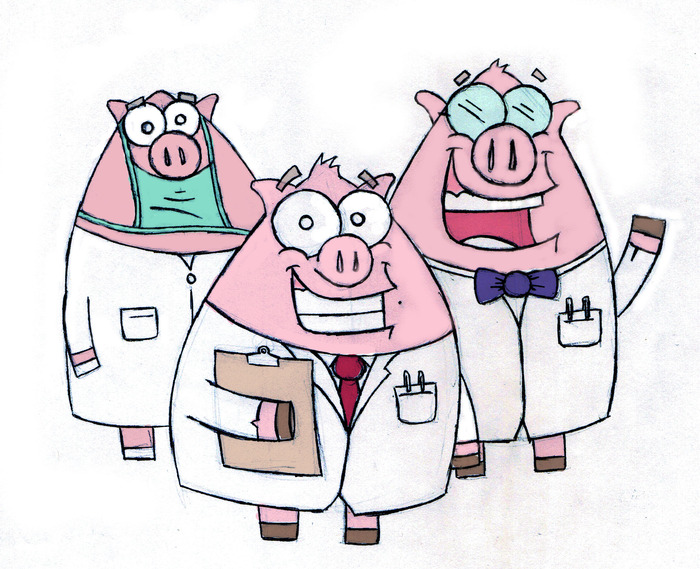 Professor Snout and the Pig Scientists