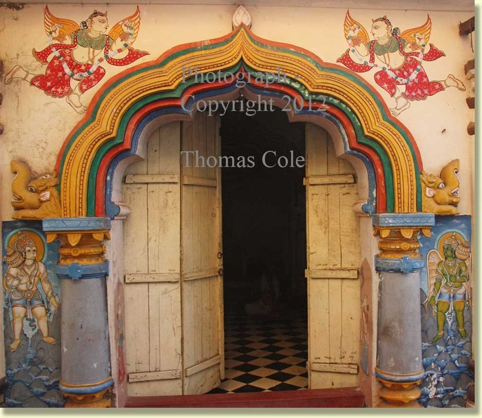 Entrance to a temple in Puri, Orissa.  (T. Cole, 2011)