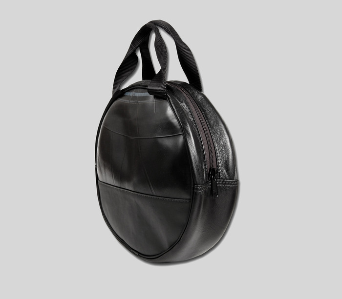 Jumper Cable & Safely Bag - available in black vegan leather with stain resistant lining. Interior pockets for flashlight, flares, tool or safety items.