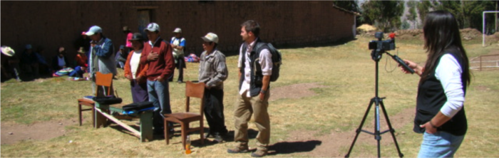 Our film crew has been invited to various community meetings on the Saqsaywaman site since 2010.