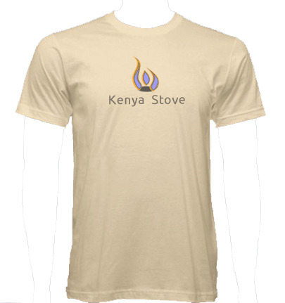 Kenya Stove organic natural American Apparel T-Shirt, available in your size, mens and womens. You'll be able to tell us the size(s) you want after the project has funded. Free Shipping (US), $16 to Europe.