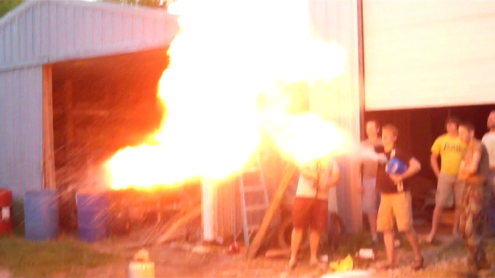 Testing fire explosion for the molotov scene