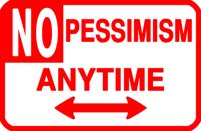 "An original street sign designed by the anonymous collector based art group Peoples ART Collective. Titled ""NO PESSIMISM ANYTIME"""
