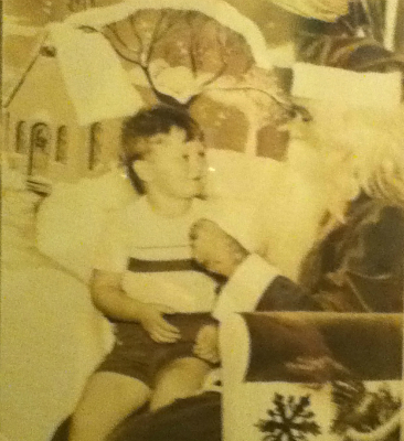 "Yours truly at 5 years old in 1951. Little did I know that one day I would be helping the ""big guy from the North Pole."""