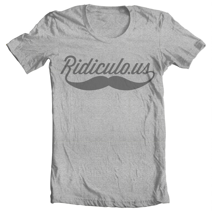 Limited Edition Heather Gray Ridiculo.us Tee!