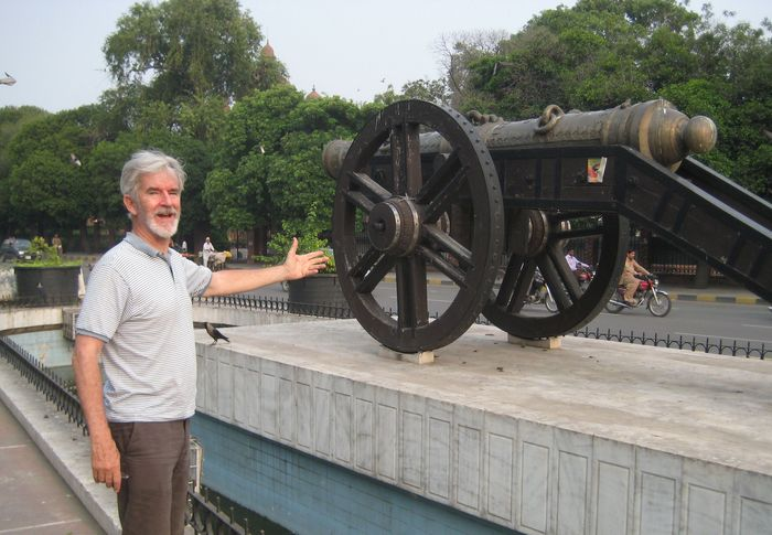 "At the ""Zamzama"" gun in Lahore that opens Kipling's ""Kim"""
