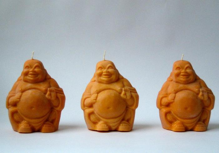 Pumpkin Orange Buddhas, Soy Wax