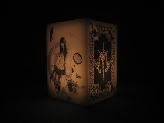 Example of a Personalized Flameless All-Wax Candle