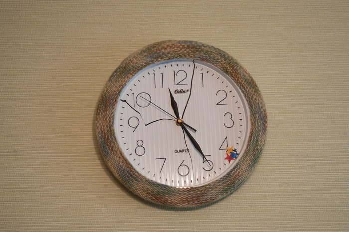 Yarn bombed Russian Clock (It needed some love!)