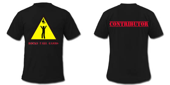 Limited edition contributor t-shirt. Note: Preliminary design, final product may be different.