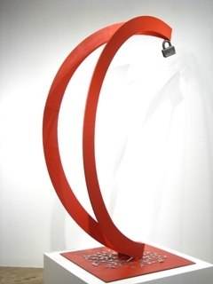 """Virgin"" - Welded and painted iron - 60x24x24 in"