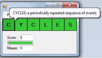 "The word ""CYCLES"" is forced after inserting letters ""L"" and ""E"". The definition is given."