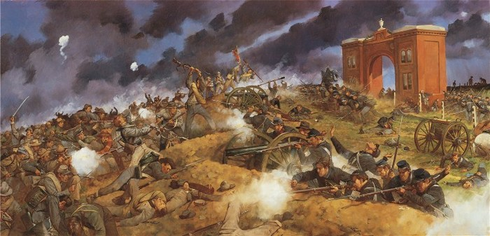 "Keith Rocco signed, numbered, limited edition print: ""Gettysburg"""